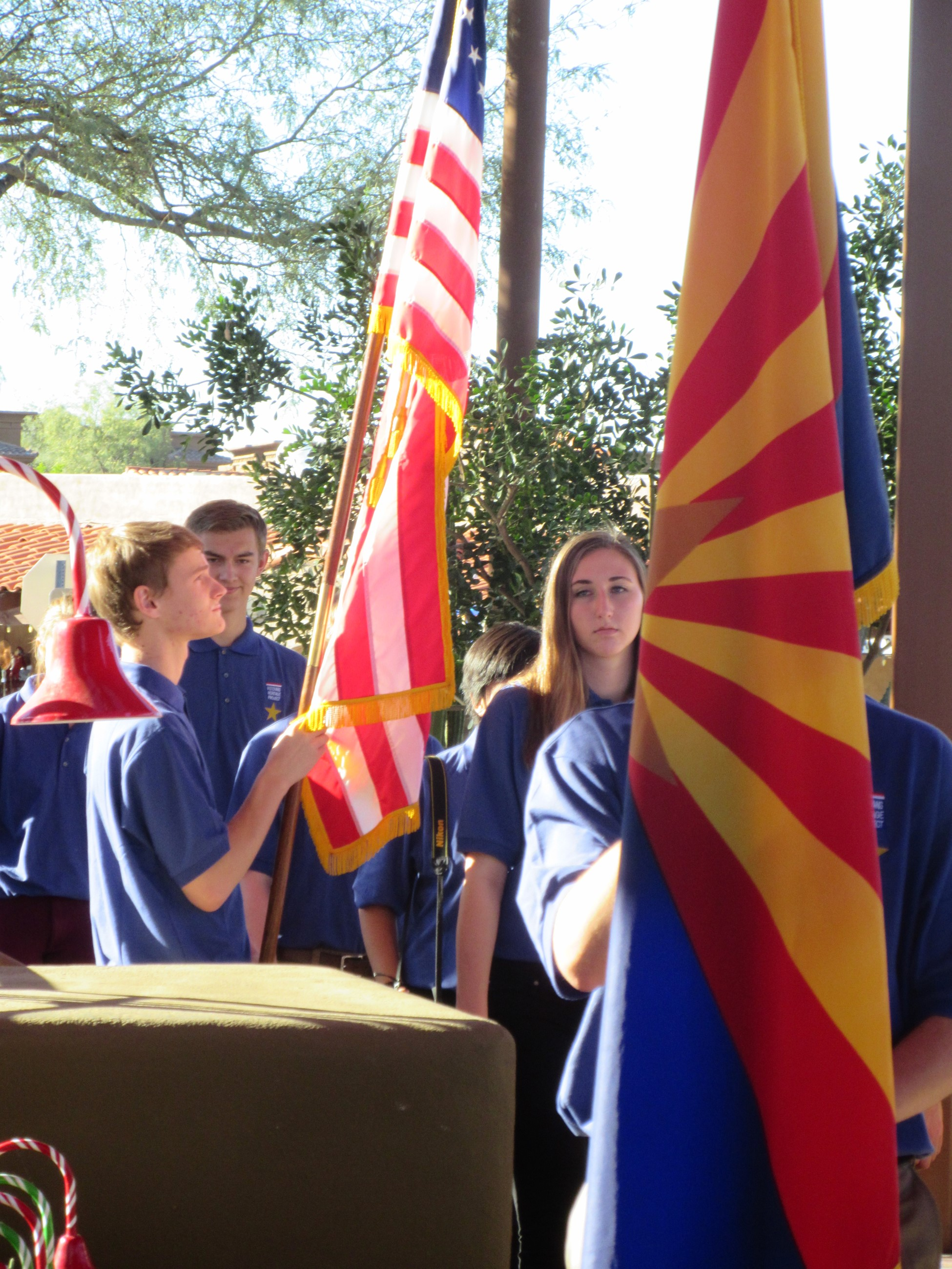 Cactus Shadows Presentation of Colors, Carefree Veterans Day 2014